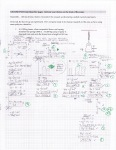 Honors Physics Exam Problem. This student did a thoughtful job of analyzing a very complicated situation (more complicated than anything we had practiced in class because of the number of distinct states).