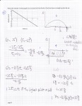 Regular physics exam problem. This student represented the situation with additional graphs, calculated quantities, and wrote expressions.