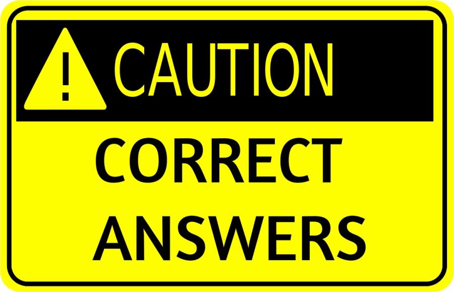 CAUTION Correct Answers