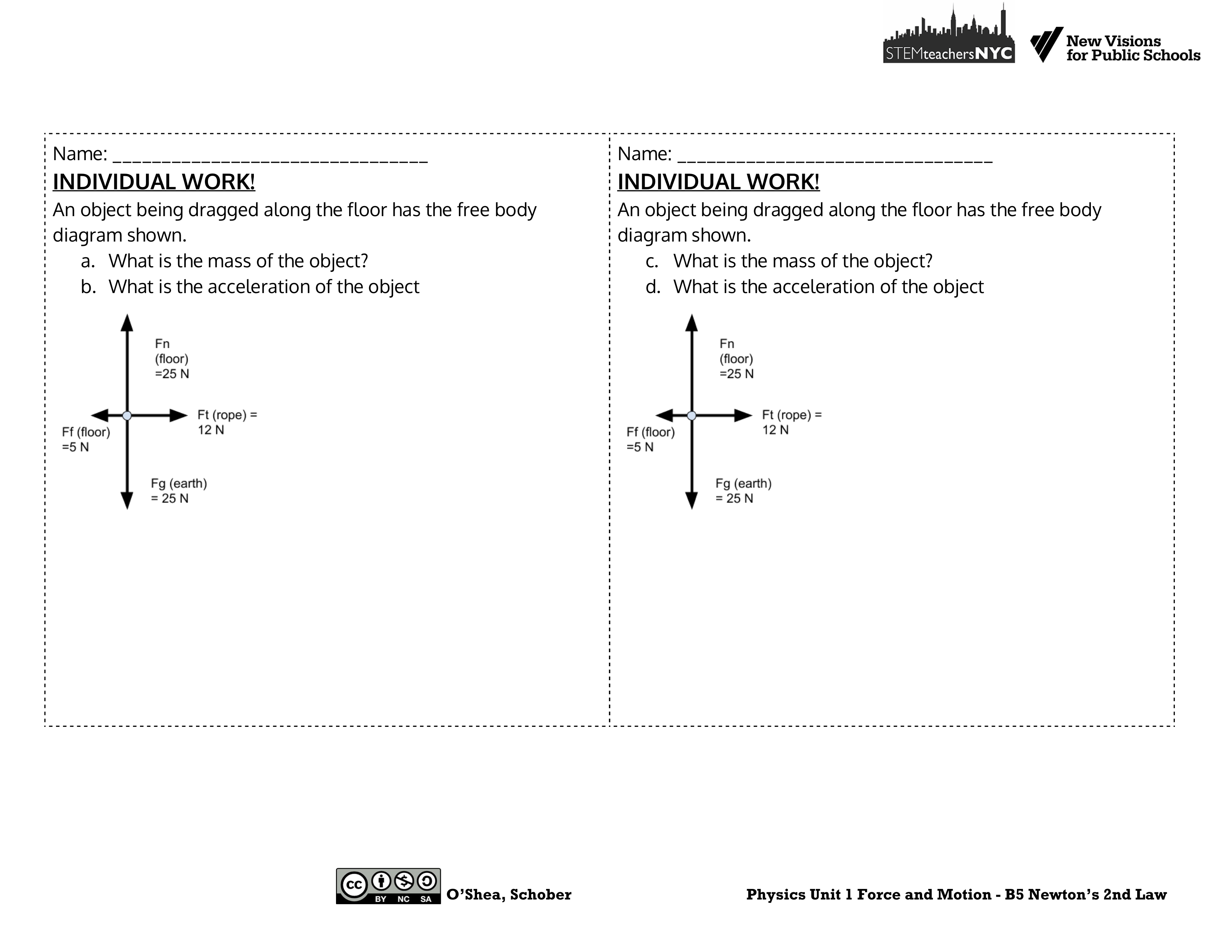 Problem Solving Lab Stations For Unbalanced Forces Physics Blog Free Body Diagrams Examples Here Are Images Of The Pages Station Cards And Exit Tickets Again These Versions Files From An Exciting Upcoming Curriculum